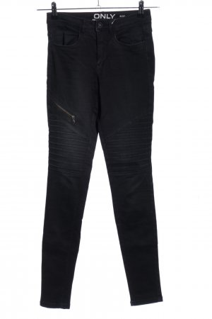 Only Bikerjeans schwarz Casual-Look