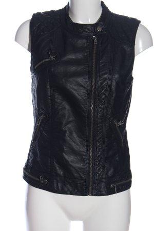 Only Biker vest zwart casual uitstraling