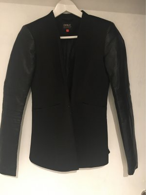 Only Blazer in pelle nero