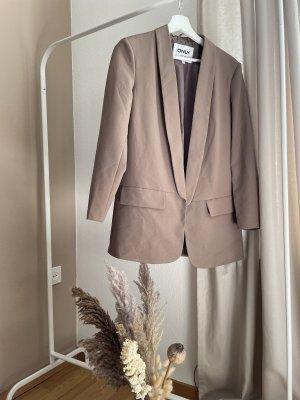 Only Lange blazer grijs-bruin