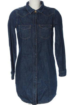 only blue denim Robe en jean bleu moucheté style décontracté