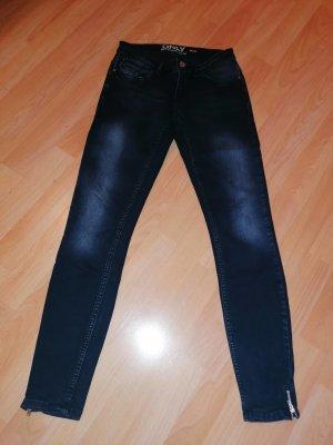 ONLY Blue Denim Skinny Zip Jeans