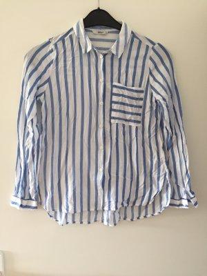 Only Skórzana bluzka biały-błękitny