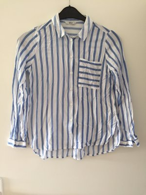 Only Blusa in pelle bianco-azzurro