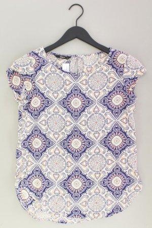 Only Bluse mit Muster Größe 34 Kurzarm creme aus Viskose