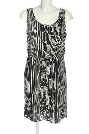 Only Vestido camisero negro-blanco estampado con diseño abstracto look casual