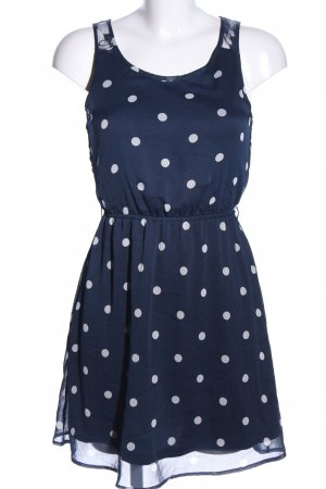 Only Blouse Dress blue-white spot pattern casual look