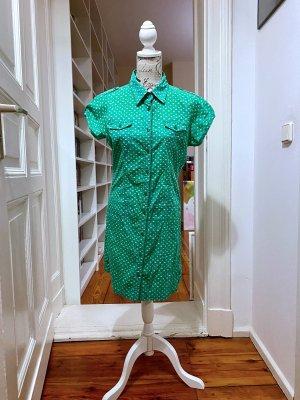 Only Robe chemise blanc-vert
