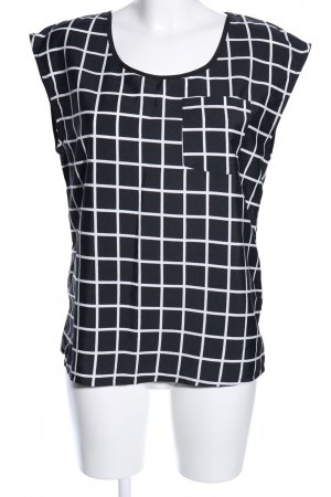Only Blusentop schwarz-weiß grafisches Muster Casual-Look