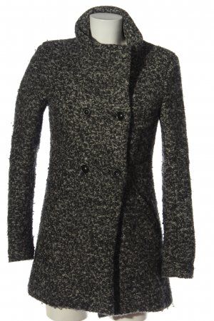 Only Floor-Lenght Coat black-natural white weave pattern casual look