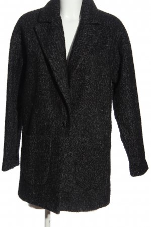 Only Floor-Lenght Coat black weave pattern business style
