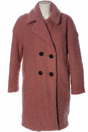 Only Heavy Pea Coat pink casual look