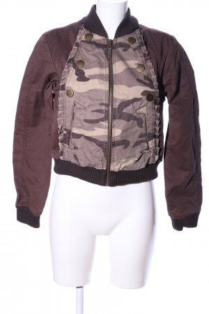Only Bomberjacke braun-creme Camouflagemuster Casual-Look