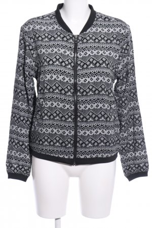 Only Bomber Jacket light grey abstract pattern casual look