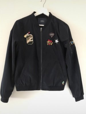 Only Bomberjacke blau mit Patches