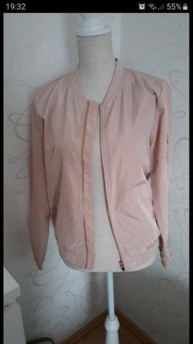 Giacca bomber rosa pallido