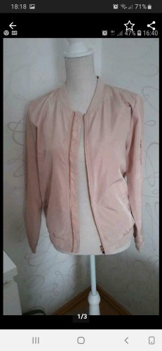Only Giacca bomber color oro rosa-rosa pallido