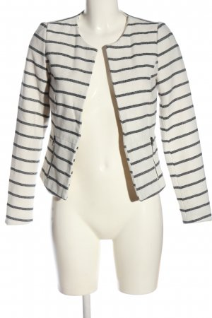 Only Boyfriend Blazer white-light grey striped pattern casual look
