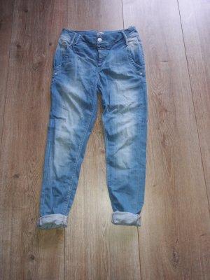 Only Boyfriend jeans lichtblauw