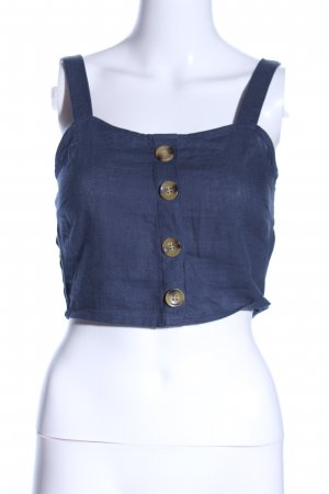Only Bustier blauw Jeans-look