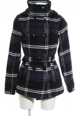 Only Heavy Pea Coat check pattern business style