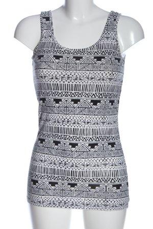 Only Camisola negro-blanco estampado gráfico look casual