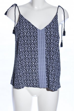Only Camisole zwart-wit grafisch patroon casual uitstraling