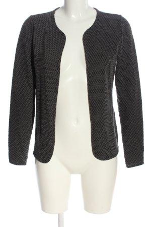 Only Cardigan noir-gris clair Motif de tissage style décontracté
