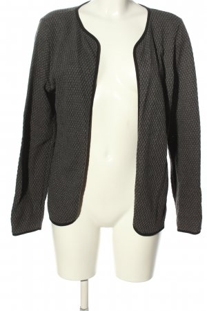 Only Cardigan hellgrau-schwarz Allover-Druck Casual-Look