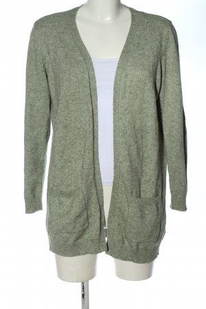 Only Cardigan khaki meliert Casual-Look