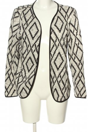 Only Cardigan creme-schwarz abstraktes Muster Casual-Look
