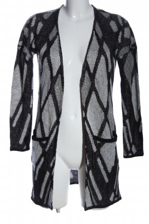 Only Cardigan hellgrau-schwarz grafisches Muster Casual-Look