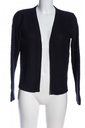 Only Cardigan blau Zopfmuster Casual-Look