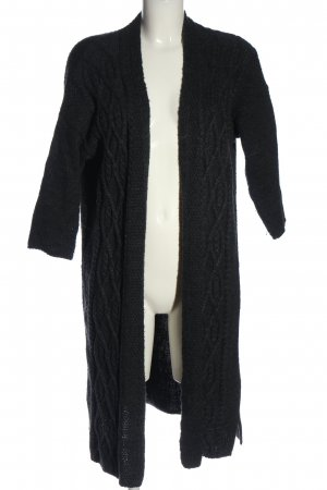 Only Cardigan schwarz Zopfmuster Casual-Look