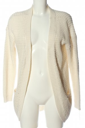Only Cardigan natural white weave pattern casual look