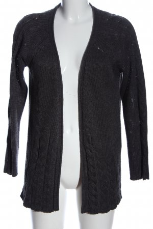 Only Cardigan hellgrau Zopfmuster Casual-Look