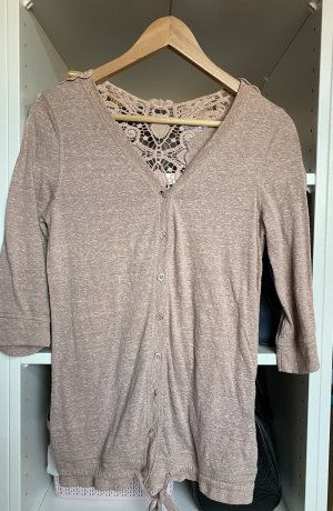 Only Crochet Cardigan rose-gold-coloured