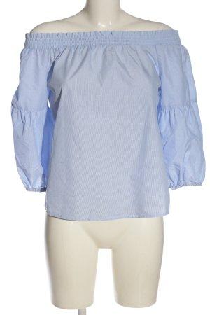 Only Carmen-Bluse blau-weiß Allover-Druck Casual-Look