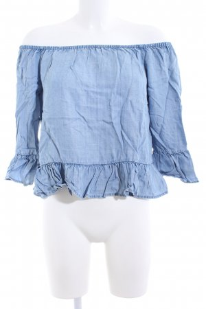 Only Carmen-Bluse blau Casual-Look