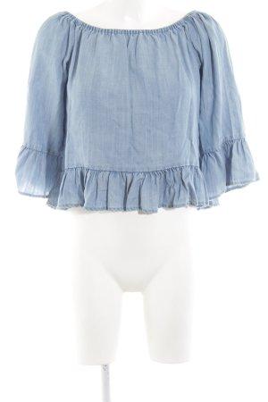 Only Carmen-Bluse blau Casual-Look