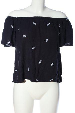 Only Carmen blouse zwart-wit prints met een thema casual uitstraling