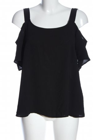 Only Blusa tipo Carmen negro look casual