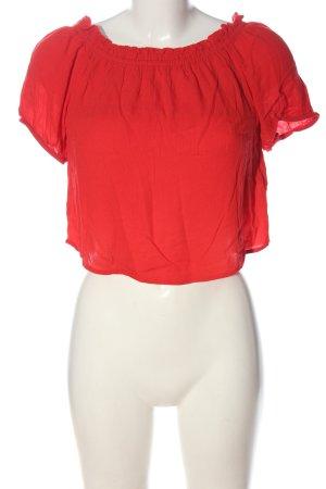 Only Bluzka typu carmen czerwony W stylu casual