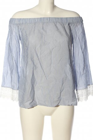 Only Carmen shirt blauw-wit volledige print casual uitstraling