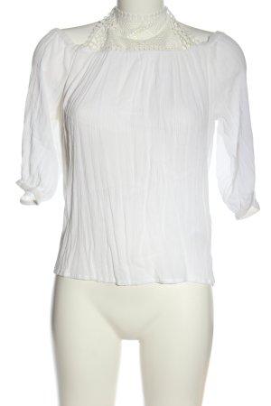 Only Camisa tipo Carmen blanco elegante
