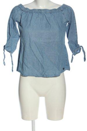 Only Koszula typu carmen niebieski W stylu casual