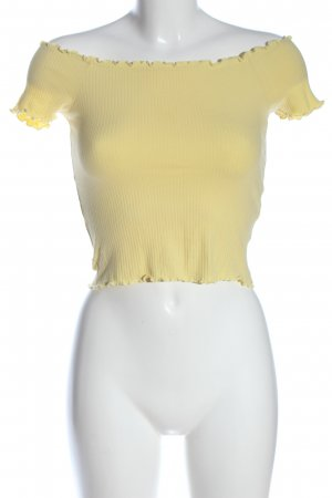 Only Carmen shirt sleutelbloem gestreept patroon casual uitstraling