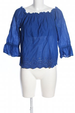 Only Carmenshirt blau Casual-Look