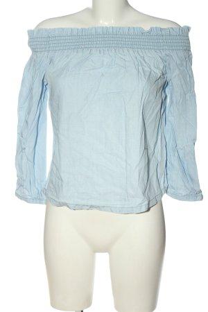 Only Carmen shirt blauw casual uitstraling