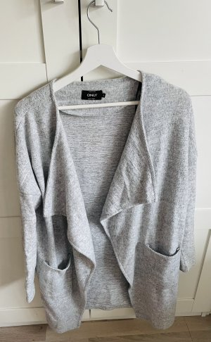Only Chaqueta larga gris claro